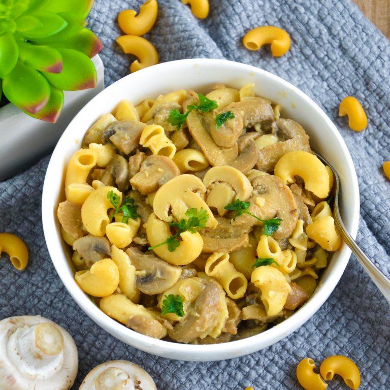 Creamy Vegan Mushroom Pasta (Gluten Free)