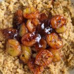 caramelized banana and peanut butter oats
