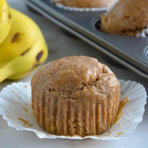 healthy banana muffins