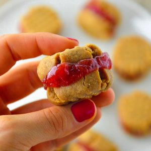 peanut butter and jelly sandwich cookies