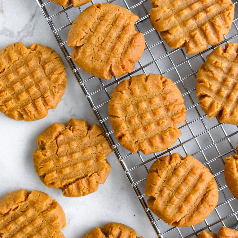 Peanut Butter Cookies- The Easiest Ever!