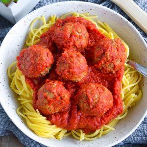 vegan gluten free spaghetti and meatballs