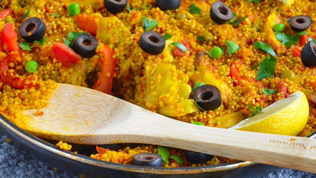 Vegetable Quinoa Paella
