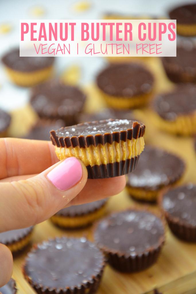 vegan healthy peanut butter cups- veggie world recipes