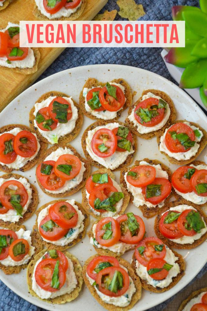 vegan bruschetta- veggie world recipes