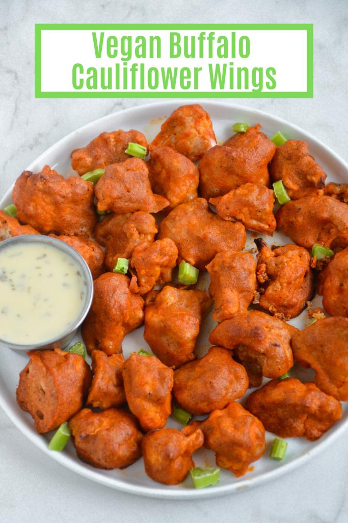 vegan buffalo cauliflower- veggie world recipes