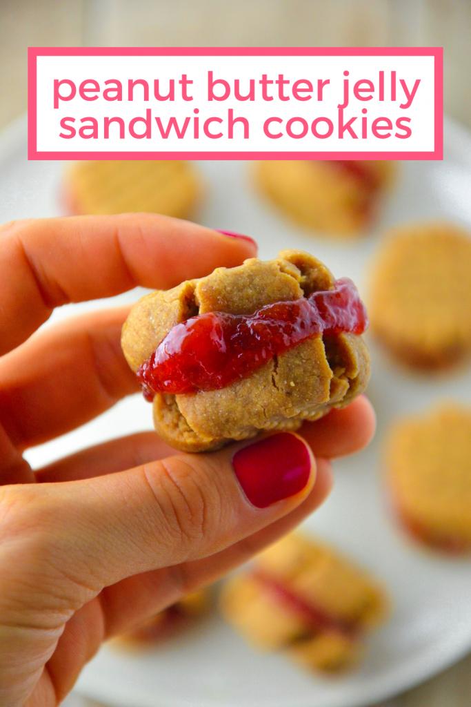 peanut butter jelly cookies vegan