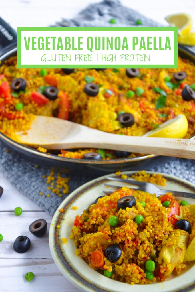 vegetable quinoa paella- veggie world recipes