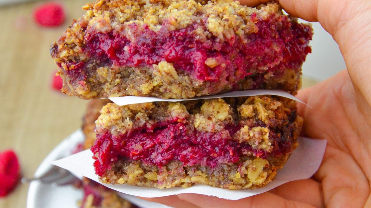 Raspberry Oatmeal Bars (V|GF)