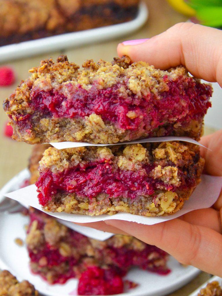 Raspberry Oatmeal Bars (V|GF)