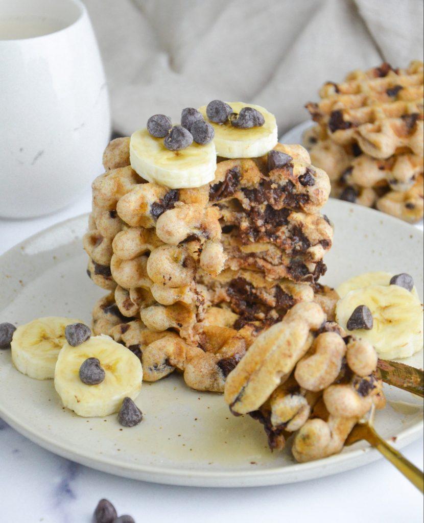 vegan chocolate chip waffles