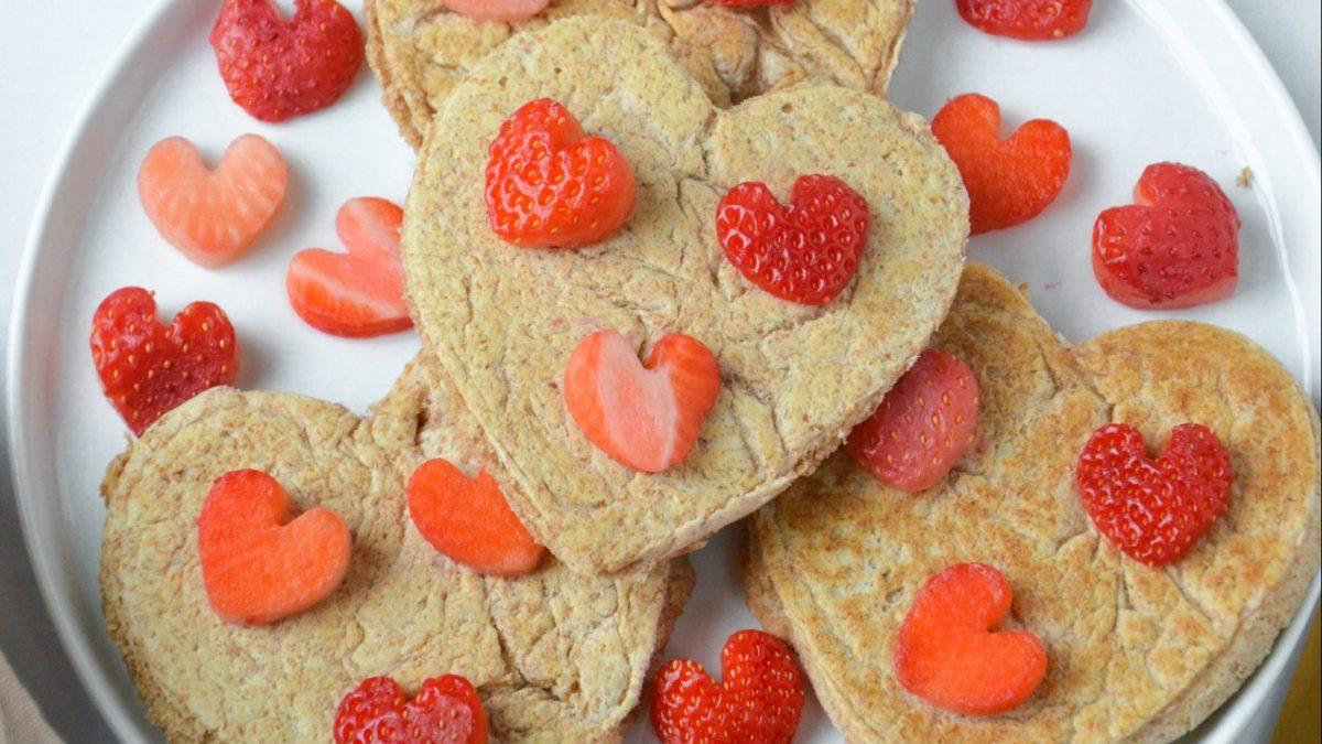 Valentine's Day Heart Pancakes