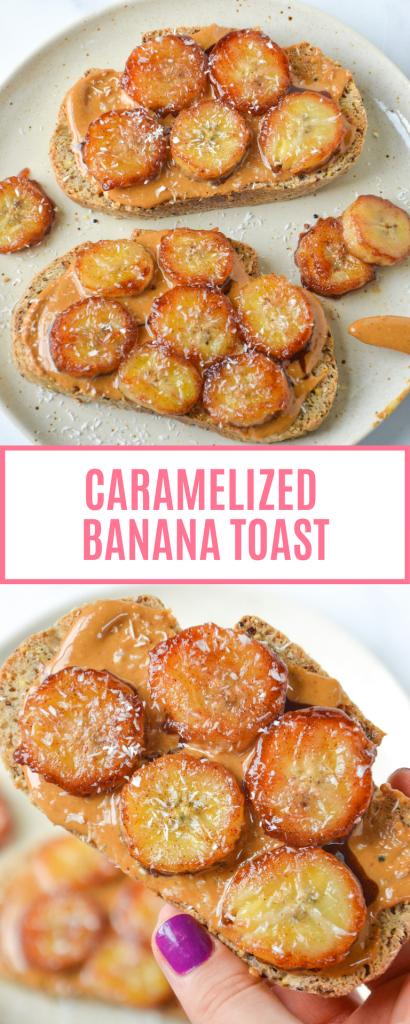 pin of caramelized banana toast