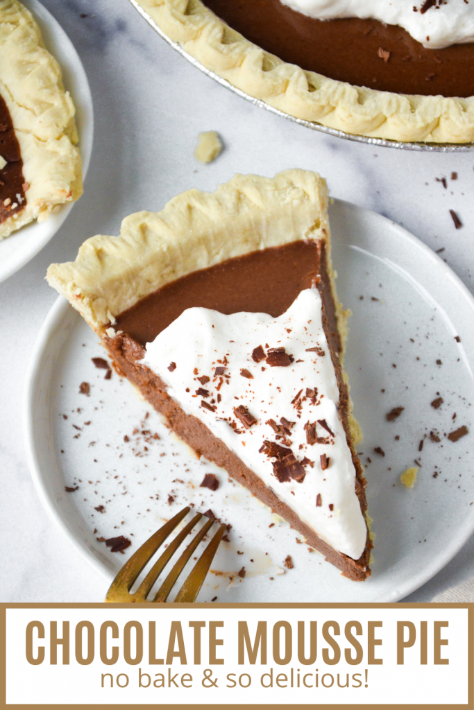 pin of chocolate mousse pie