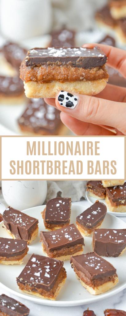 pin of millionaire shortbread bars