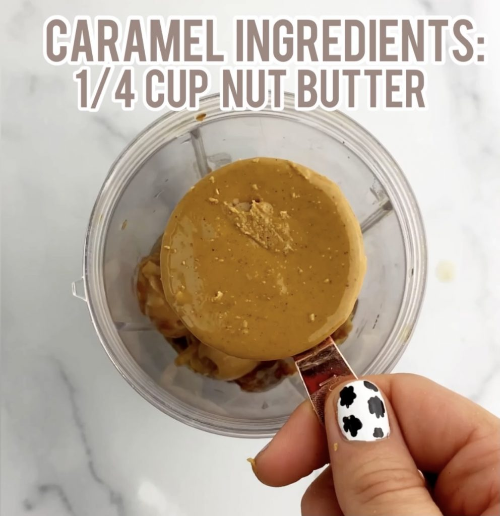 peanut butter in a measuring cup