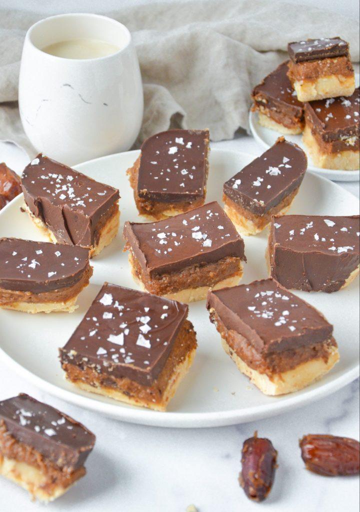 dessert bars on a plate